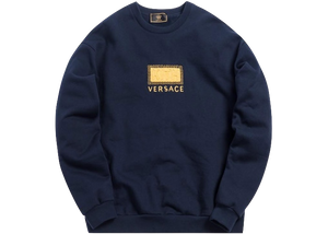 Kith x Versace Greek Key Crewneck Navy