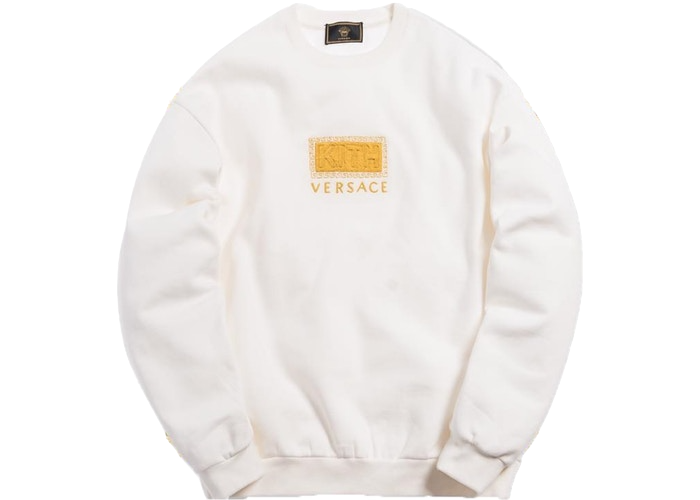 Kith x Versace Greek Key Crewneck Off-White