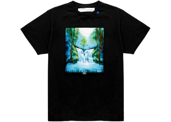 OFF-WHITE Waterfall T-Shirt Black/Multicolor