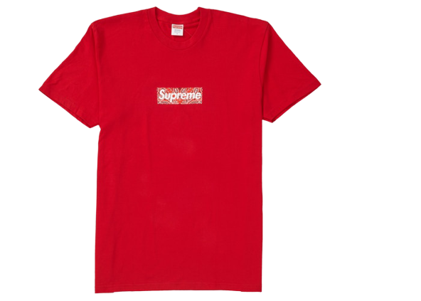 Supreme Bandana Box Logo Tee Red
