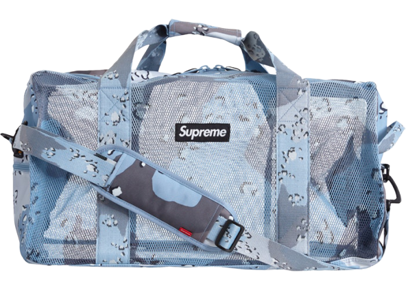 Supreme Big Duffle Bag (SS20) Blue Chocolate Chip Camo