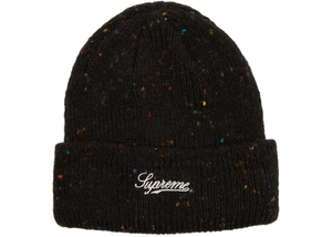 Supreme Colored Speckle Beanie Black - Baza