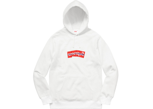 Supreme Comme Des Garcons SHIRT Box Logo Hooded Sweatshirt White - Baza