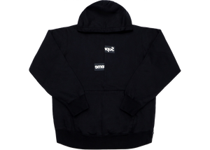 Supreme Comme des Garcons SHIRT Split Box Logo Hooded Sweatshirt Black - Baza