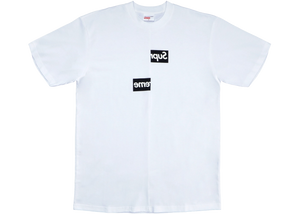 Supreme Comme des Garcons SHIRT Split Box Logo Tee White - Baza