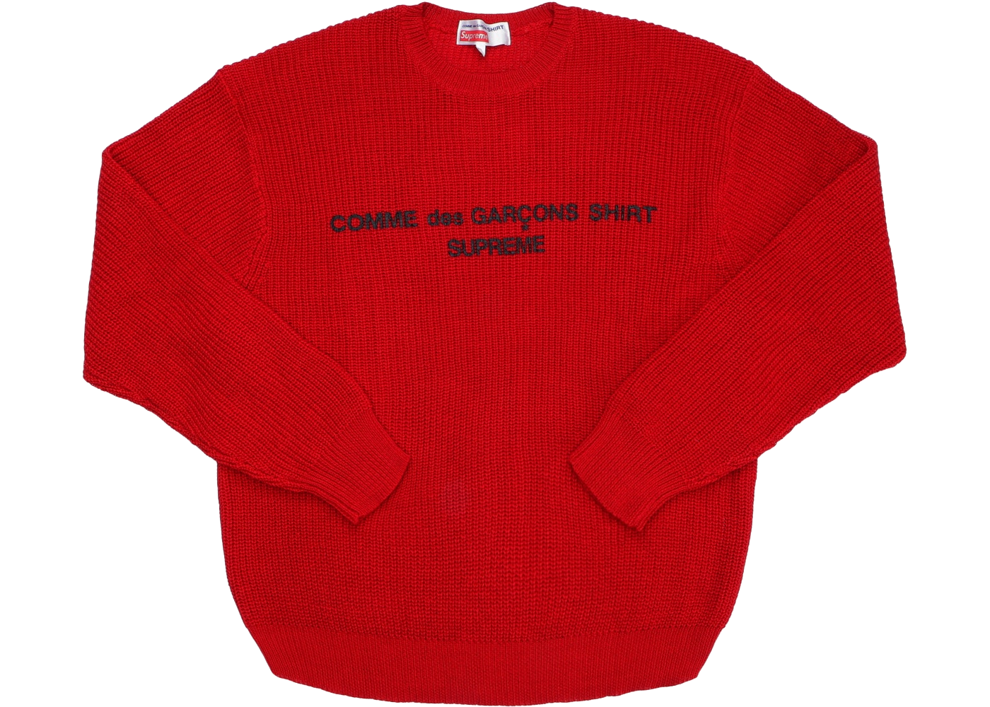 Supreme Comme des Garcons SHIRT Sweater Red - Baza