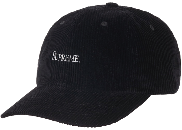 Supreme Corduroy 6-Panel Black