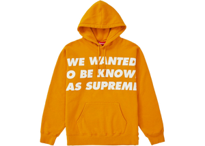 Supreme Known As Hooded Sweatshirt Gold