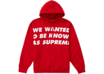 Supreme Known As Hooded Sweatshirt Red