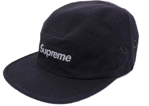 Supreme Napped Canvas Camp Cap Black - Baza