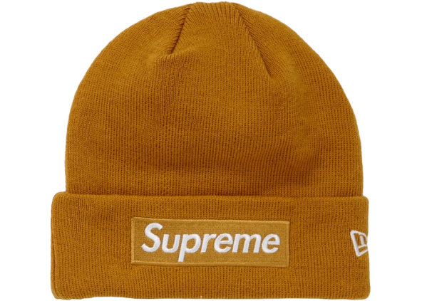 Supreme New Era Box Logo Beanie (FW18) Mustard