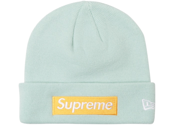 Supreme New Era Box Logo Beanie (FW17) Ice Blue