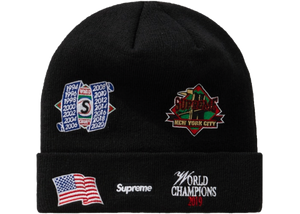Supreme New Era Championship Beanie Black