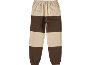 Supreme Nike Stripe Sweatpant Tan