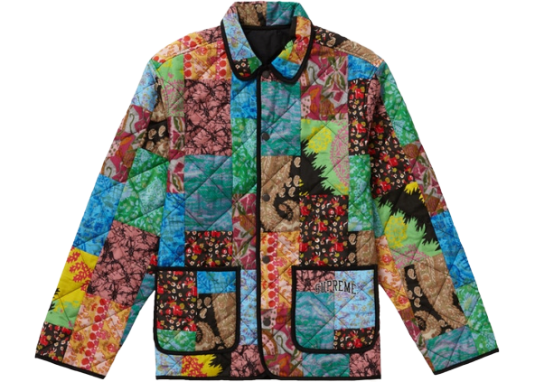Supreme Reversible Patchwork Quilted Jacket Multicolor