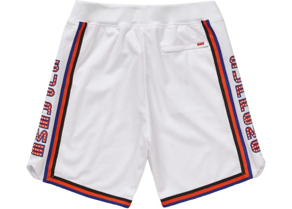 Supreme Rhinestone Basketball Short White
