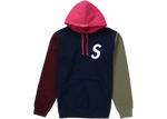 Supreme S Logo Colorblocked Hooded Sweatshirt Navy
