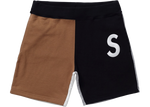 Supreme S Logo Colorblocked Sweatshort Black