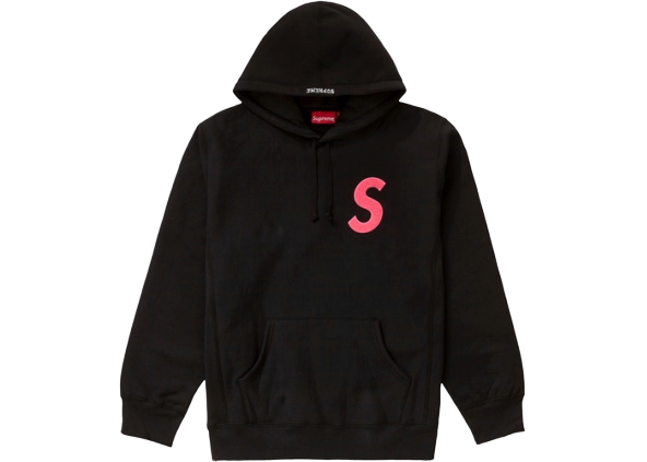 Supreme S Logo Hooded Sweatshirt (FW19) Black