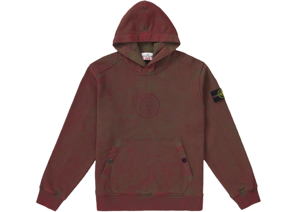 Supreme Stone Island Hooded Sweatshirt (SS19) Red
