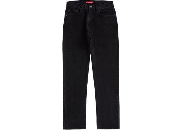 Supreme Stone Washed Slim Jean (SS20) Washed Black