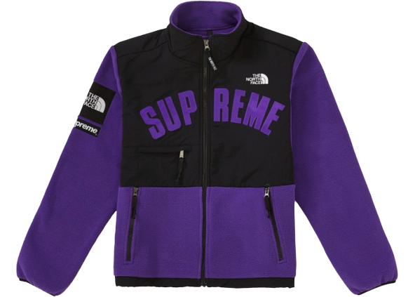 Supreme The North Face Arc Logo Denali Fleece Jacket Purple