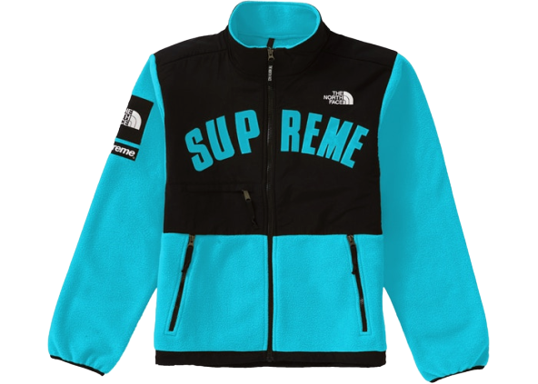 Supreme The North Face Arc Logo Denali Fleece Jacket Teal