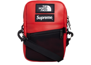 Supreme The North Face Leather Shoulder Bag Red