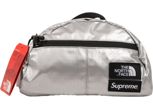 Supreme The North Face Metallic Roo II Lumbar Pack Silver