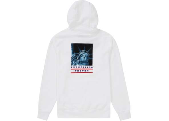 Supreme The North Face Statue of Liberty Hooded Sweatshirt White