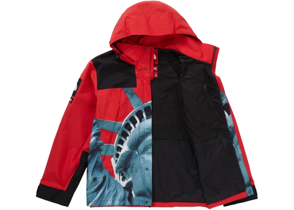 Supreme The North Face Statue of Liberty Mountain Jacket Red