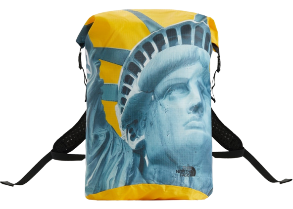 Supreme The North Face Statue of Liberty Waterproof Backpack Yellow