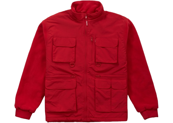 Supreme Upland Fleece Jacket Red