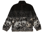 Supreme Wolf Fleece Jacket Black