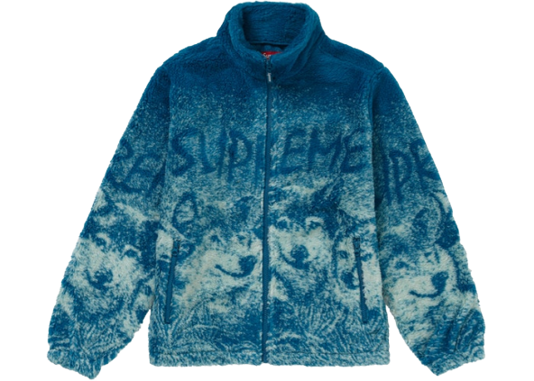 Supreme Wolf Fleece Jacket Dark Teal