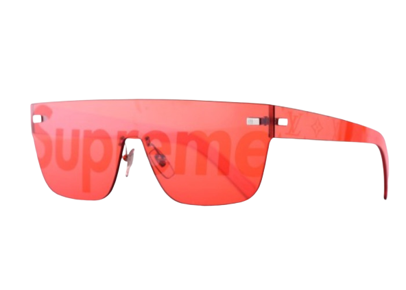 Supreme x Louis Vuitton City Mask SP Sunglasses Red