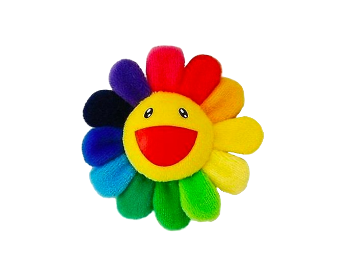Takashi Murakami Flower Plush Pin Rainbow/Yellow