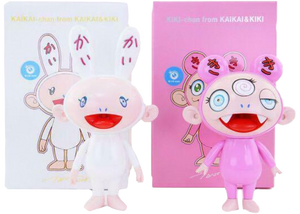 Takashi Murakami Kaikai & Kiki (Blue Eyes) Figures (Set of 2) Multi