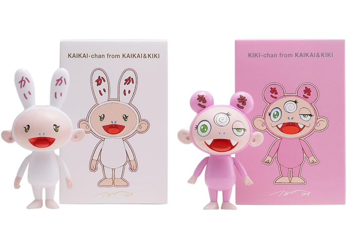 Takashi Murakami Kaikai & Kiki Figures (Set of 2) Multi
