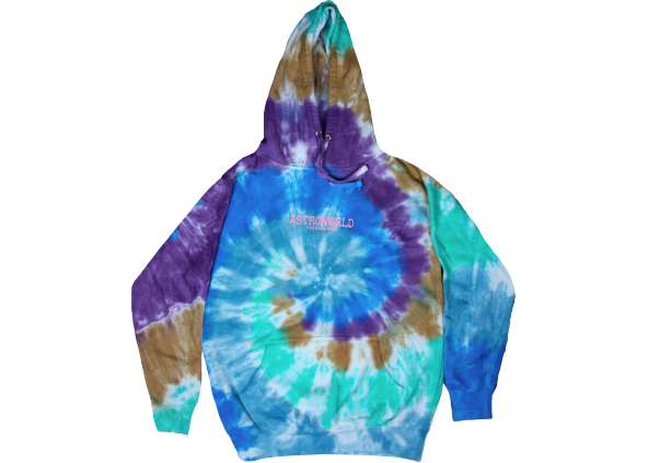 Travis Scott Astroworld Festival Run Hoodie Tie Dye