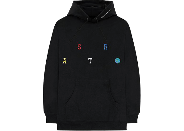 Travis Scott Astroworld Scattered Hoodie Black