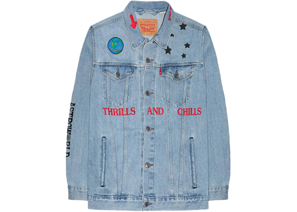 Travis Scott Astroworld Levis Denim Jacket Blue