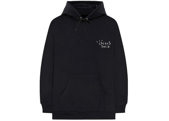 Travis Scott Cactus Jack Airbrush Hoodie Black