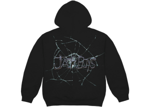 Travis Scott Jack Boys Cracked Hoodie Black