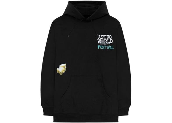 Travis Scott Festival Airbrush Hoodie Black