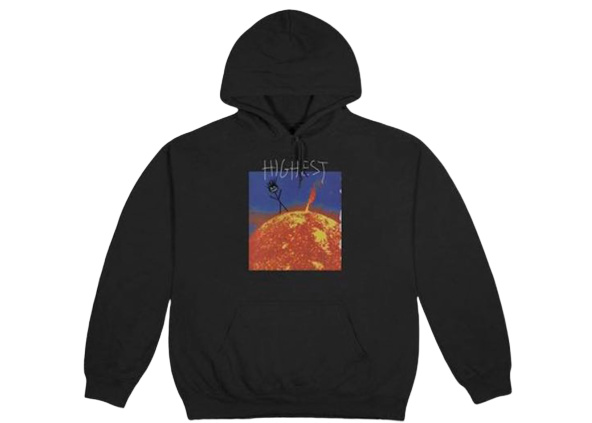 Travis Scott Highest In The Room Sun Hoodie Black