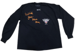 Travis Scott MSG Knicks Long Sleeve Tee Black