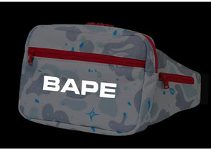 BAPE Space Camo Waist Bag White