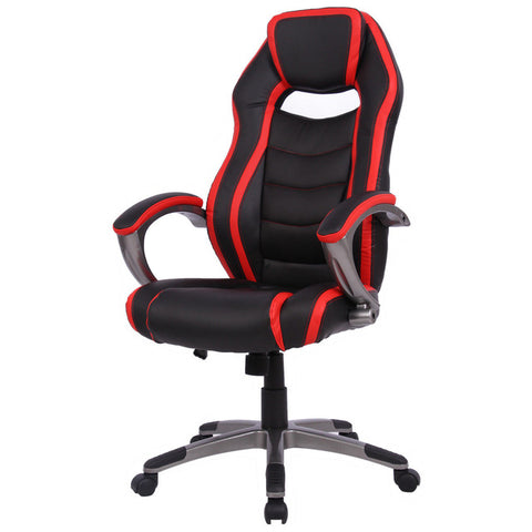 Racing Style High Back Reclining Gaming Chair- Red