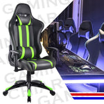 Racing High Back Reclining Gaming Chair- Green